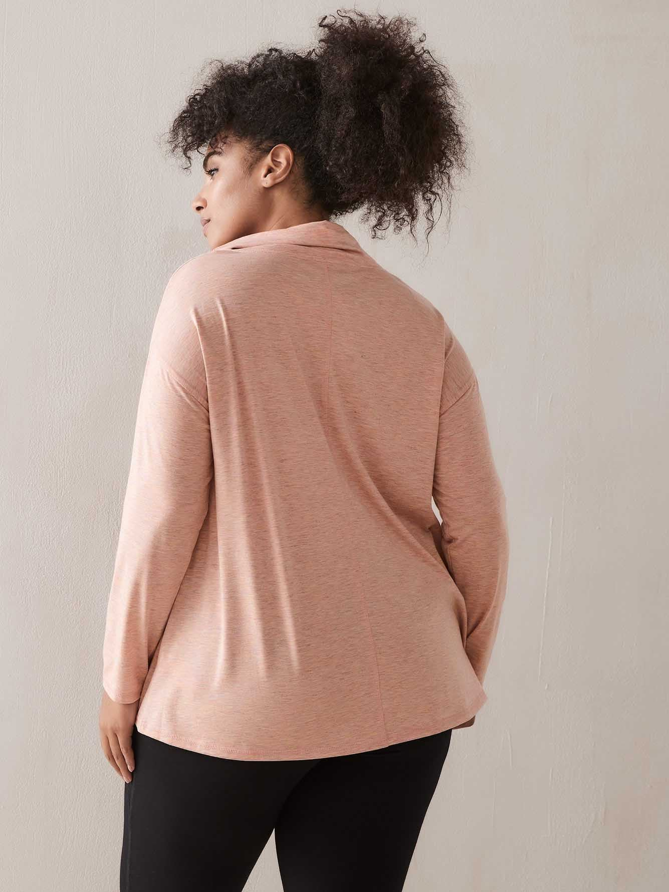 Long-Sleeve Cowl Neck Top - ActiveZone