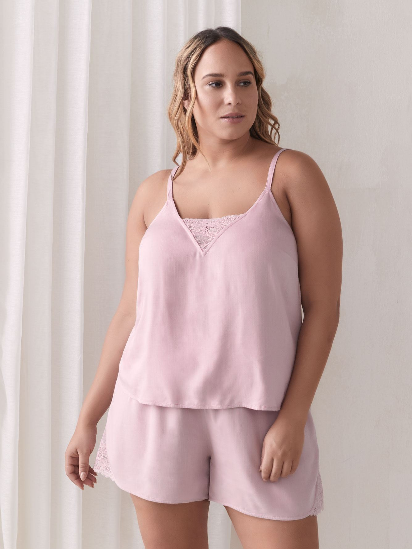 Sleep Cami with Lace Insert - Addition Elle