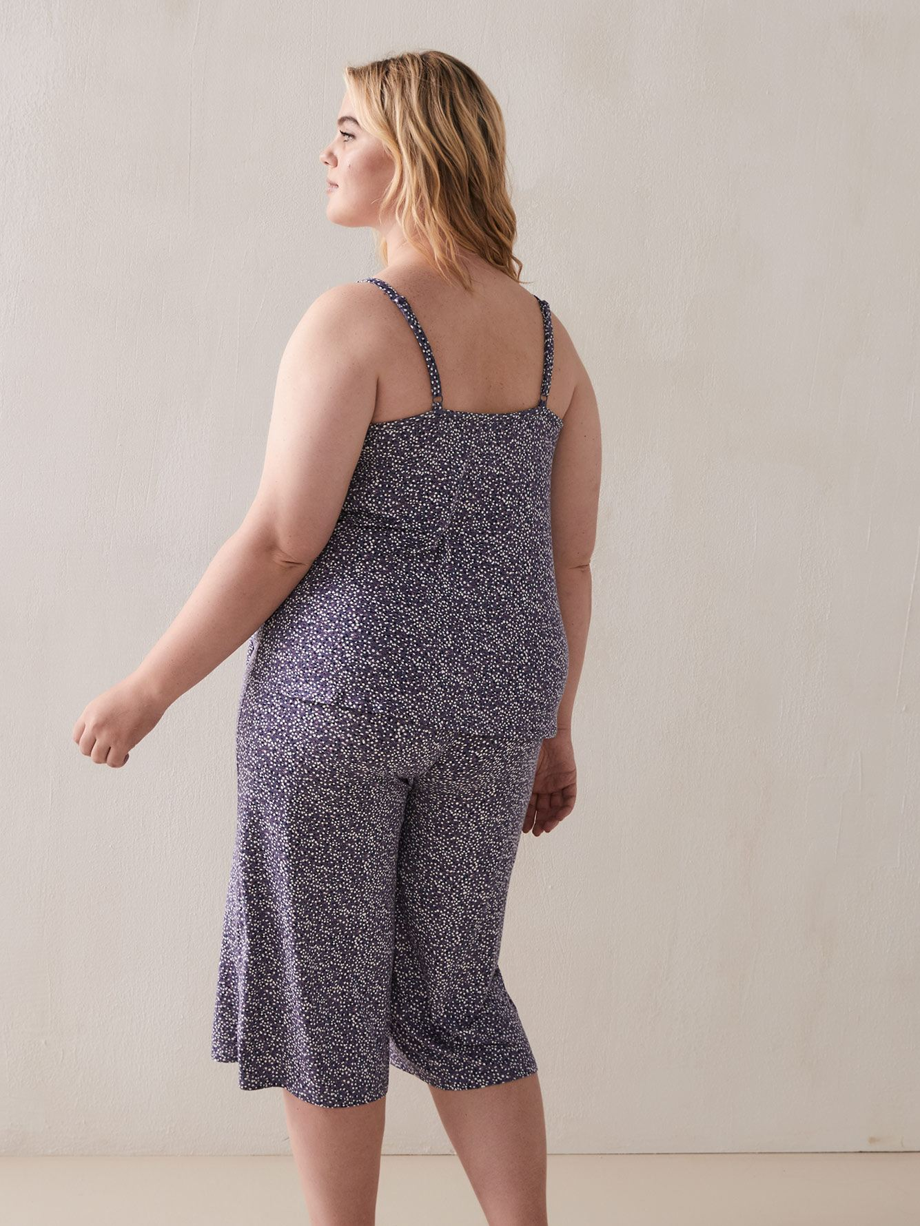 Dotted Sleep Cami with Lace Inserts - Déesse Collection