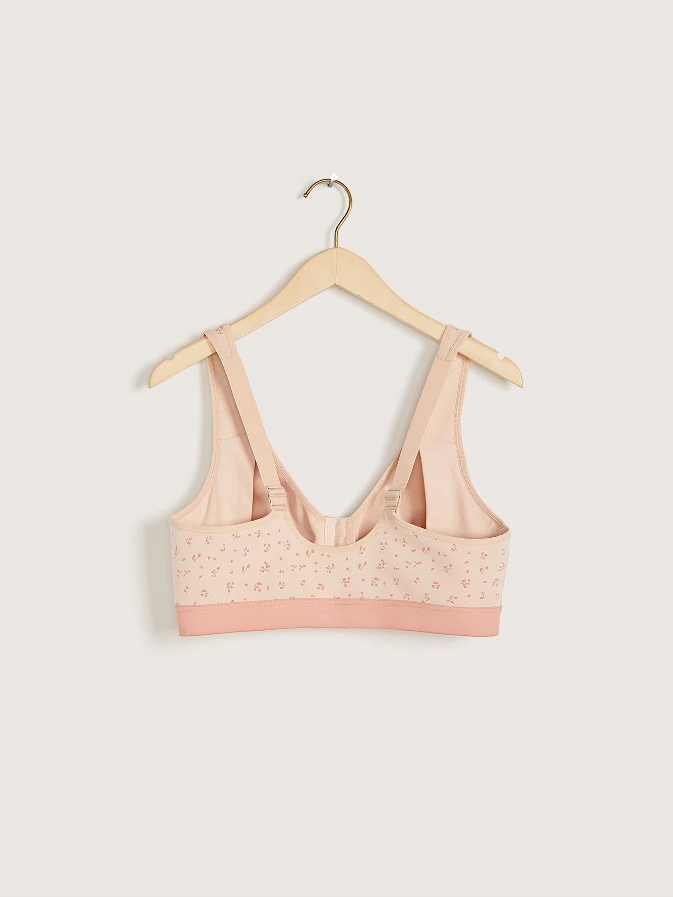 Wirefree Cotton Bra with Front Closure