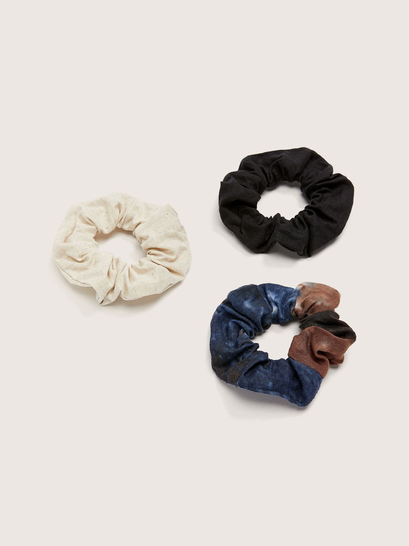 Tie-Dye Hair Scrunchies, 3-Pack - Addition Elle