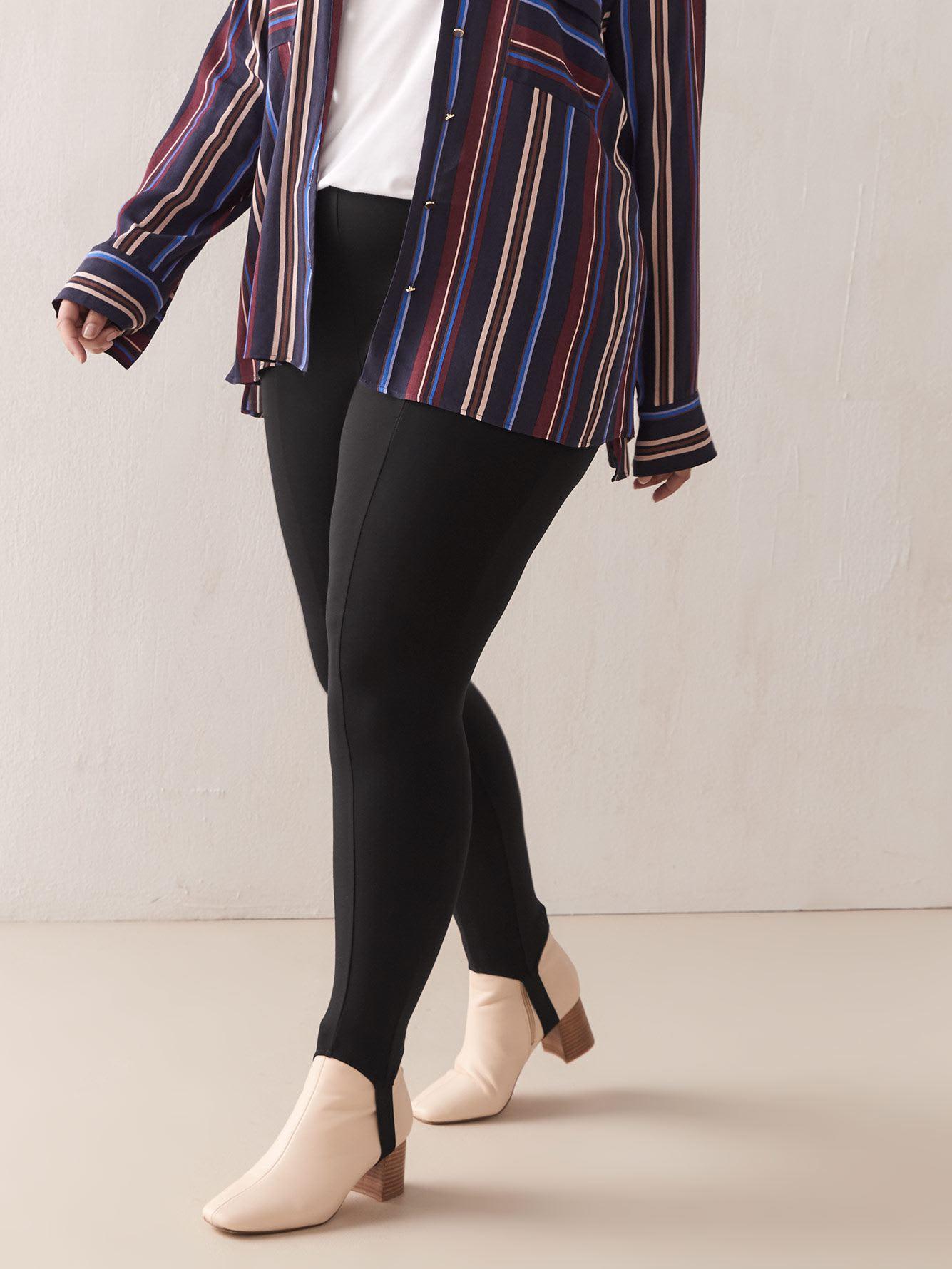 Stir Up Leggings with Elastic Waistband - Addition Elle