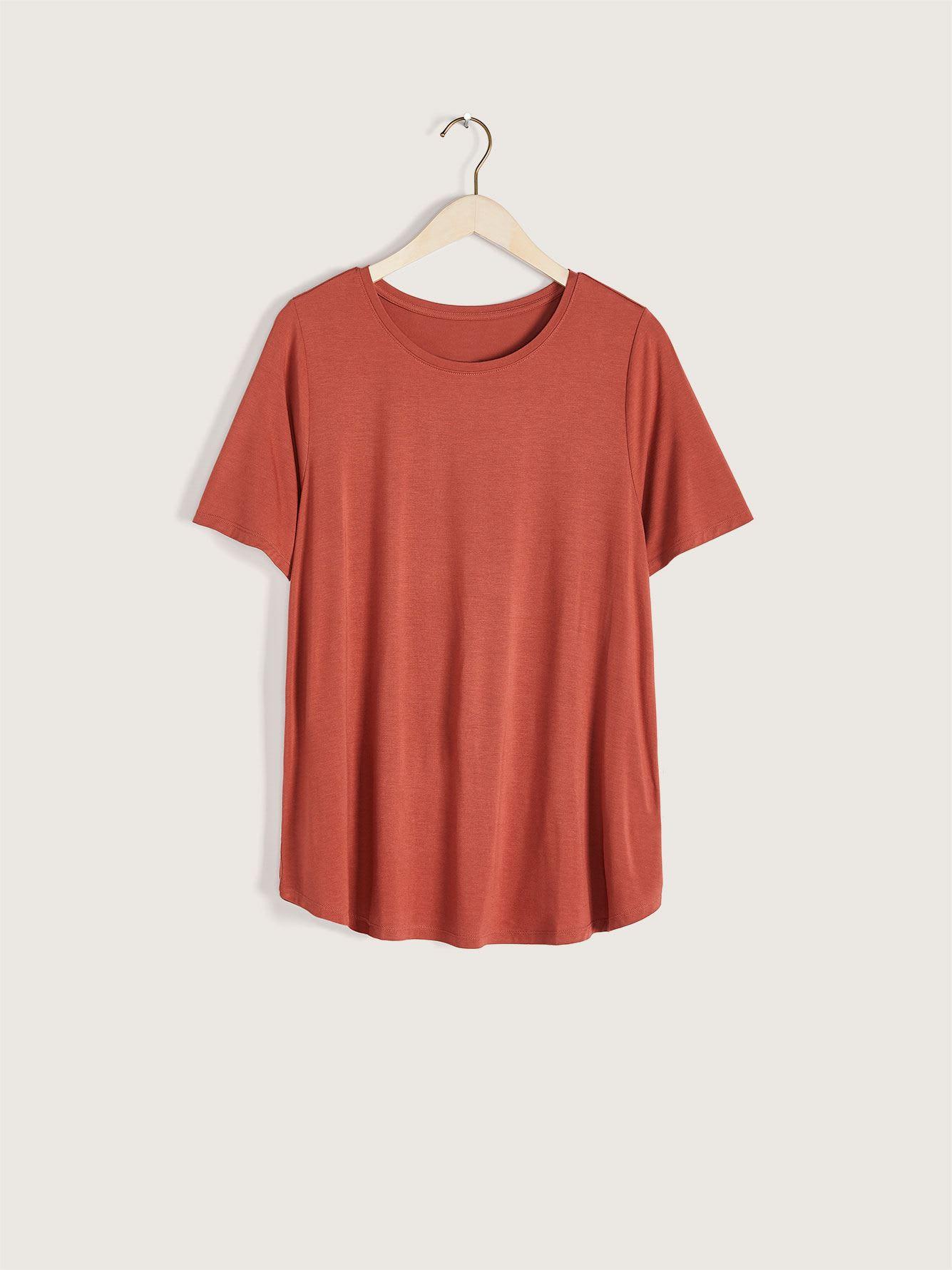 Modern Viscose & Elastane T-Shirt - Addition Elle