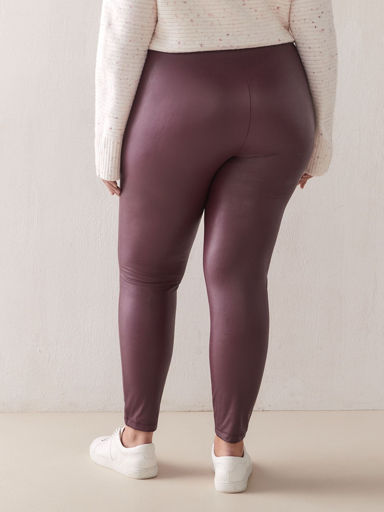 Faux-Leather Leggings - Addition Elle