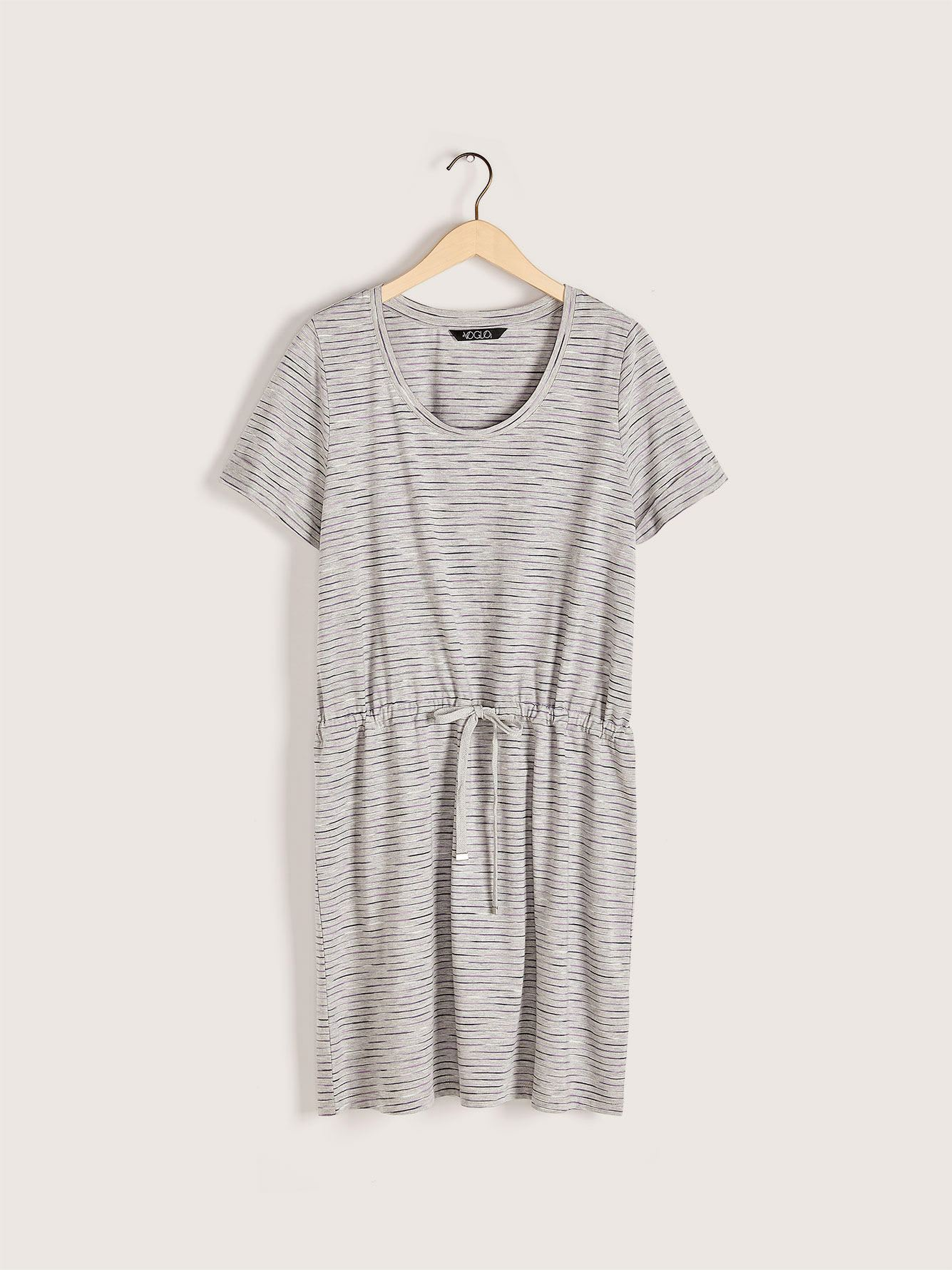 Ribbed Sleepshirt with Drawstring - Addition Elle