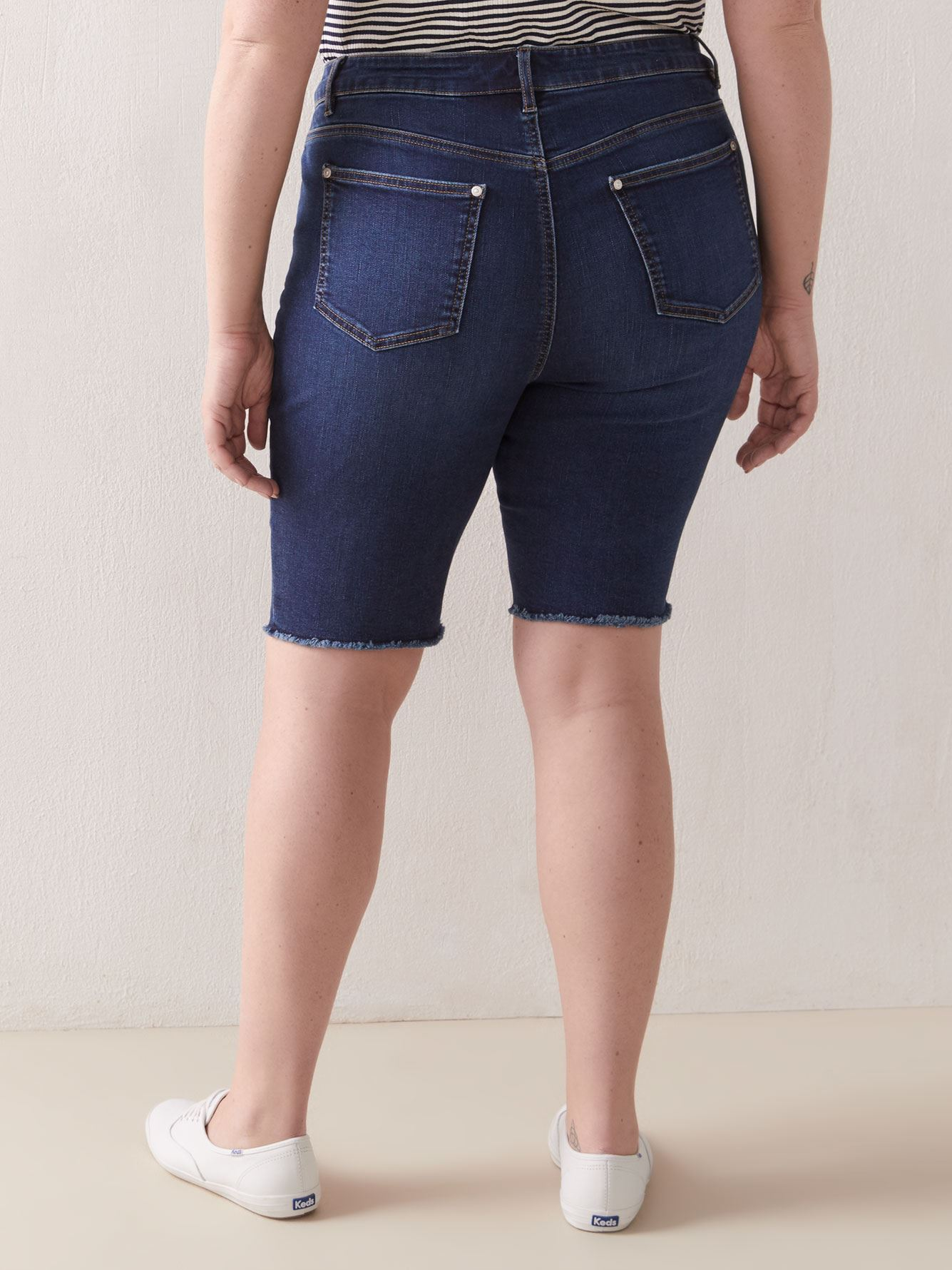 Dark Wash Denim Short - Addition Elle
