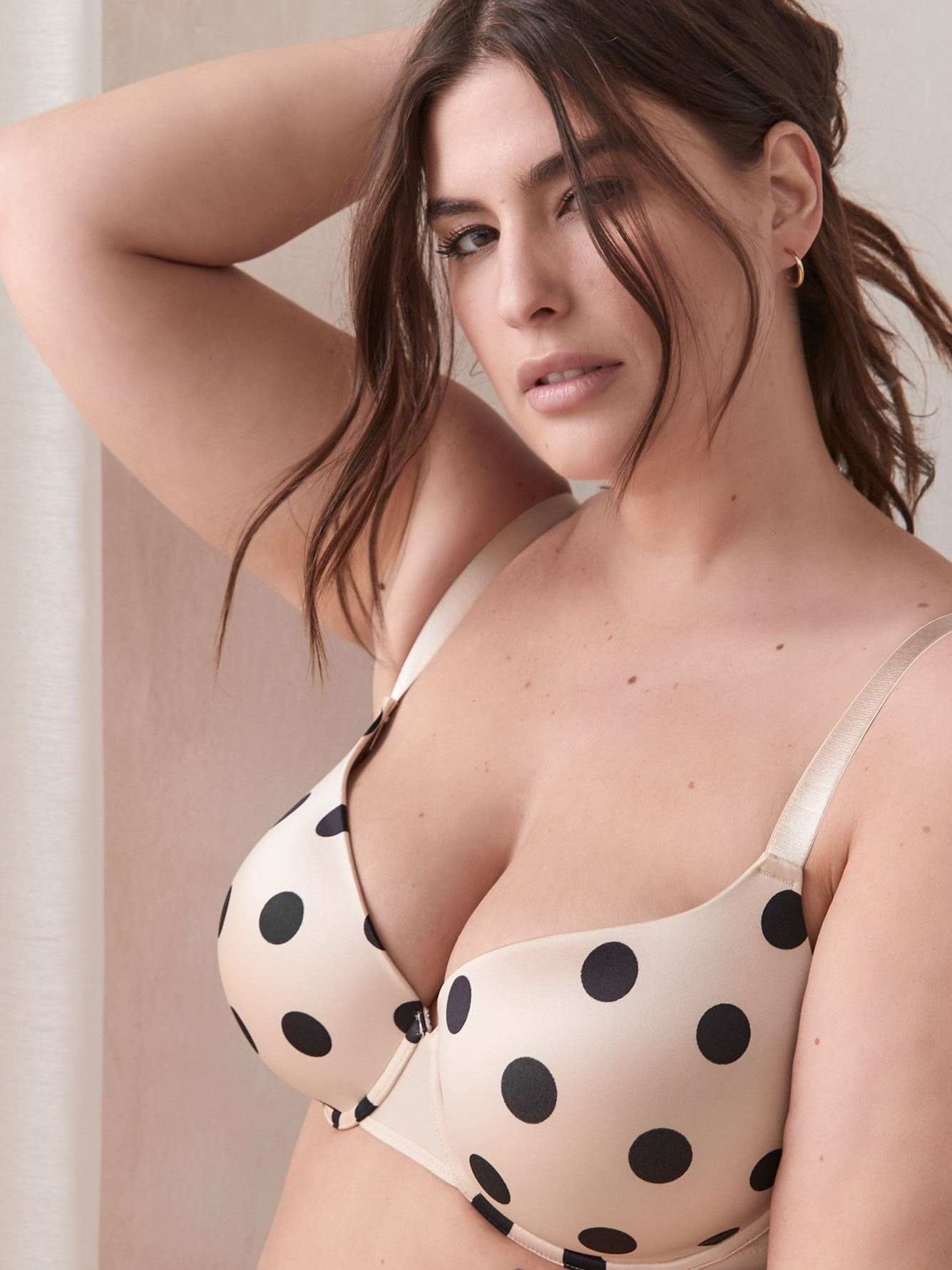 Polka Dot T-Shirt Bra, G & H Cups - Ashley Graham