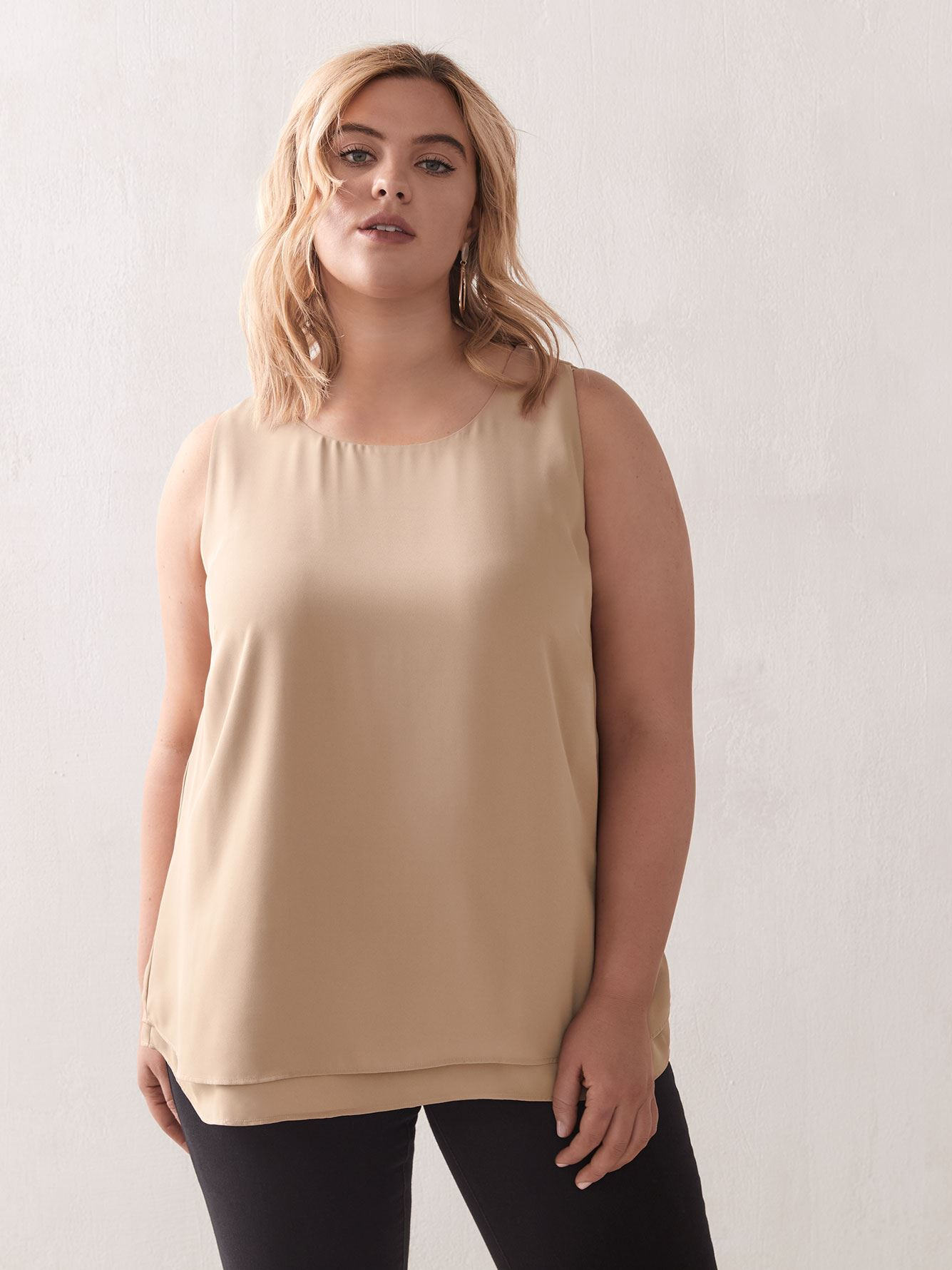 Double Layer Swing Tank-Top - Addition Elle