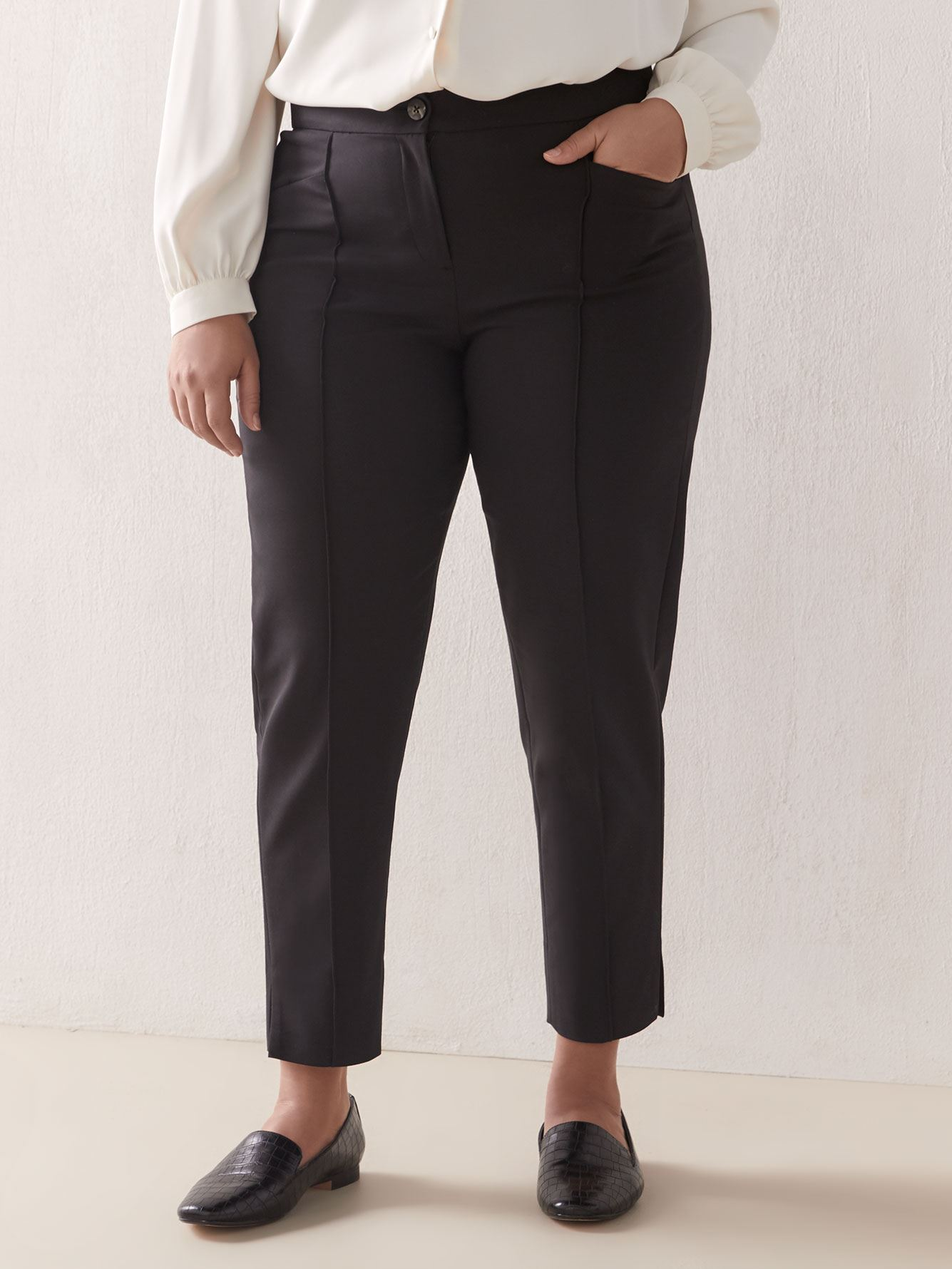 Slim-Leg Ankle Pant - Addition Elle