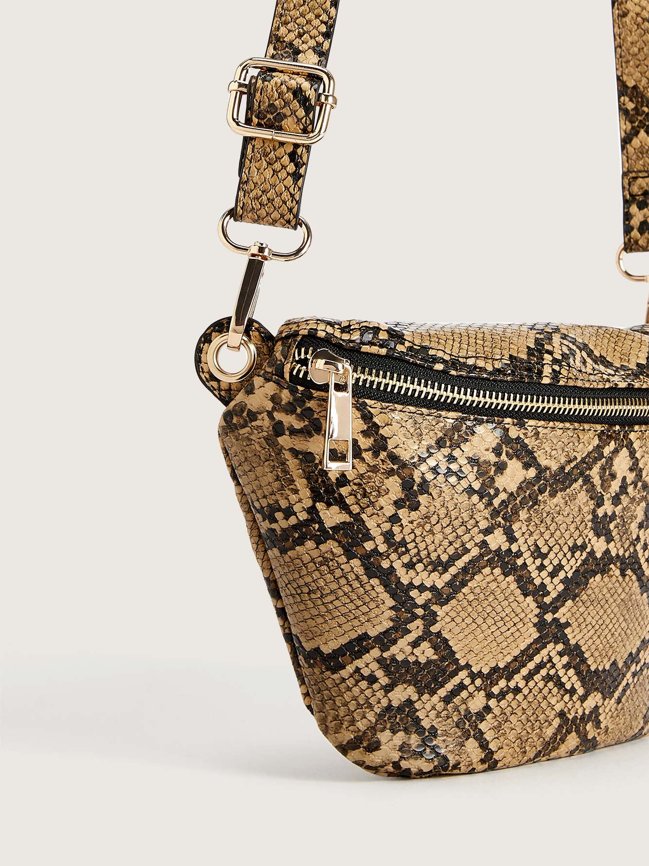 Snake Print Waist Belt Bag - Addition Elle