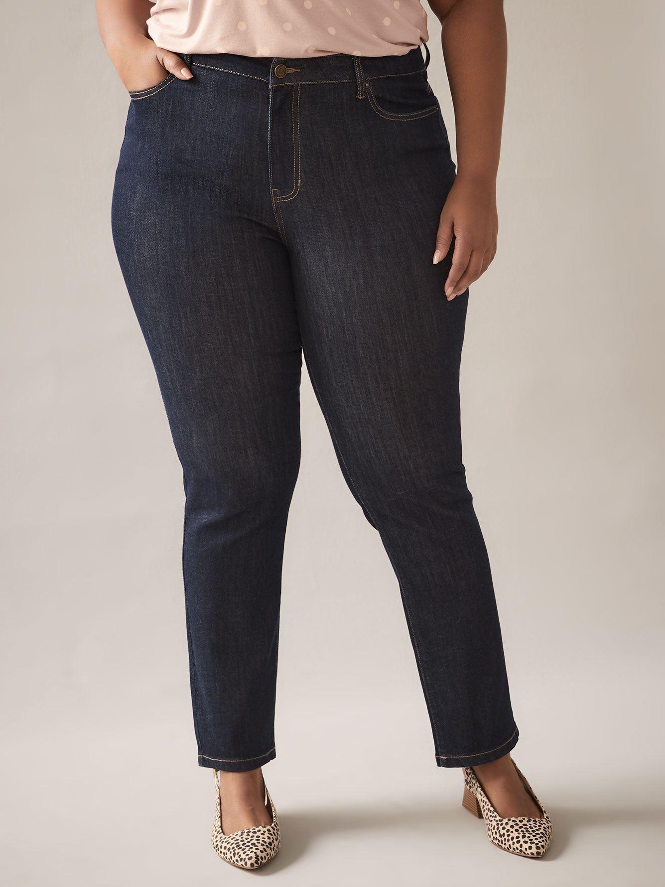 Dark Blue Straight Leg Jean - d/C JEANS