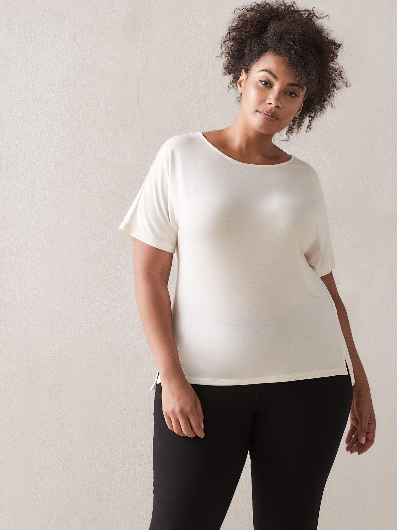 Addition Elle - T-shirt col rond à manches courtes