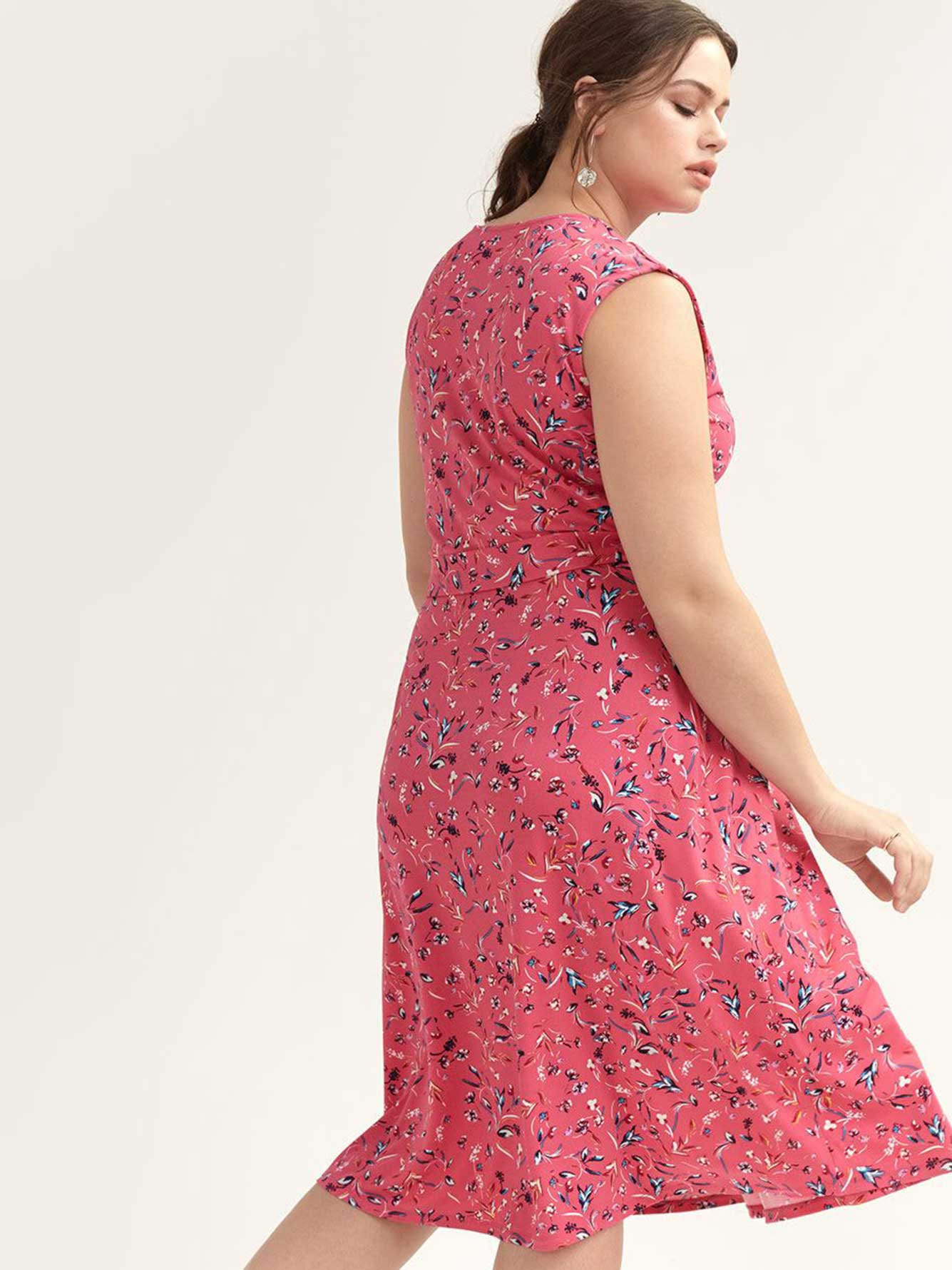 Floral Dress with Wrap Front