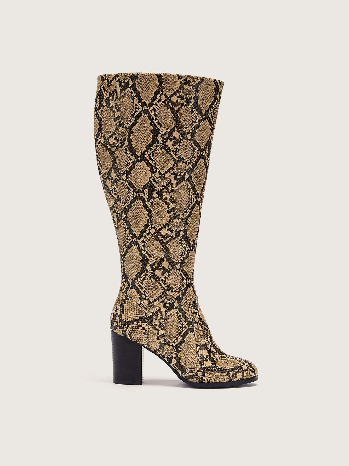 Wide Tall Boot with Stretch Zipper - Addition Elle