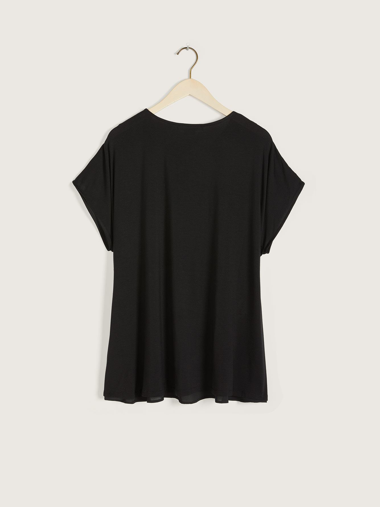 Short-Sleeve Mix Media Top - In Every Story