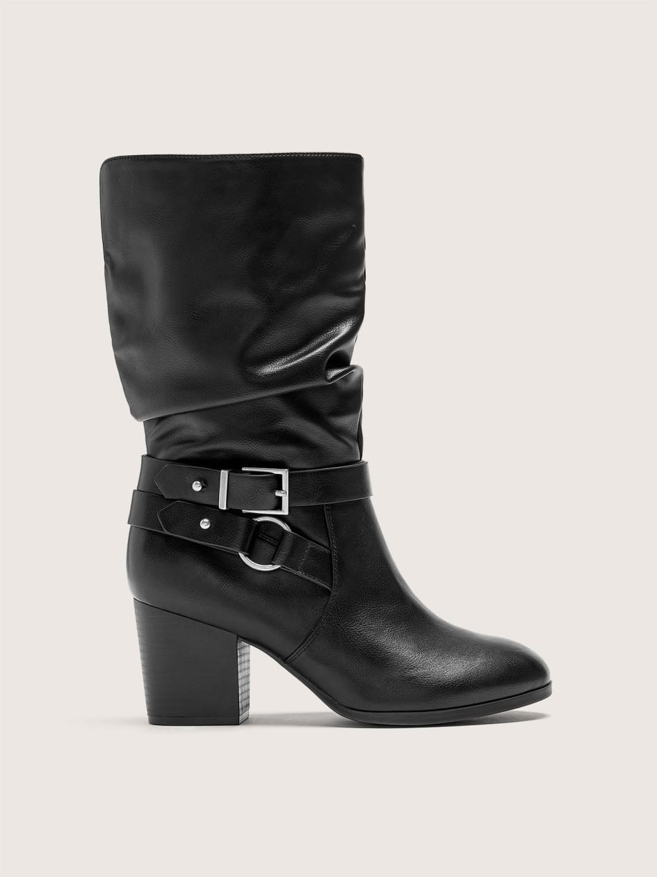c55f5798adc Wide Width Mid Calf Boot with Side Buckles - Addition Elle