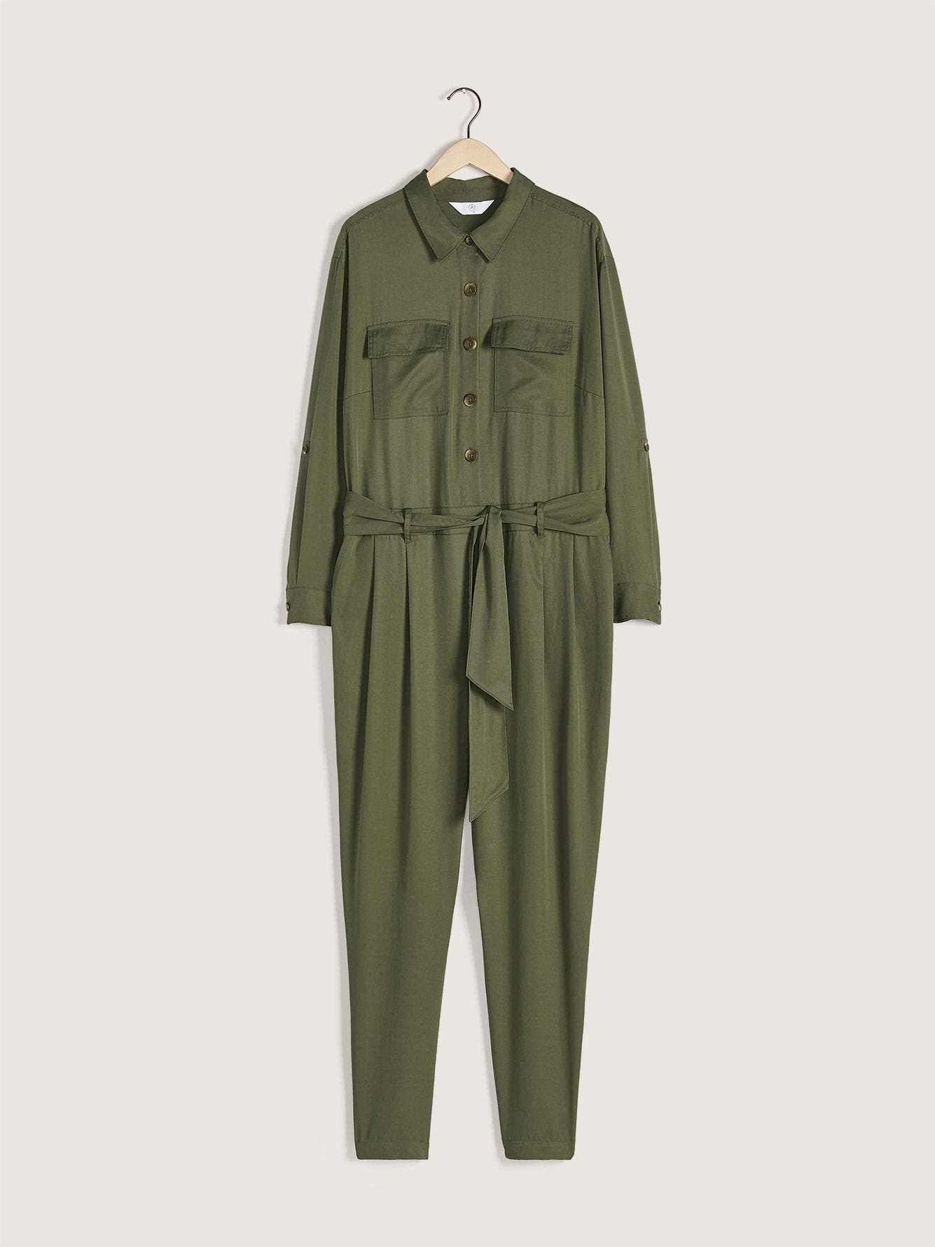 Khaki Utilitarian Boilersuit