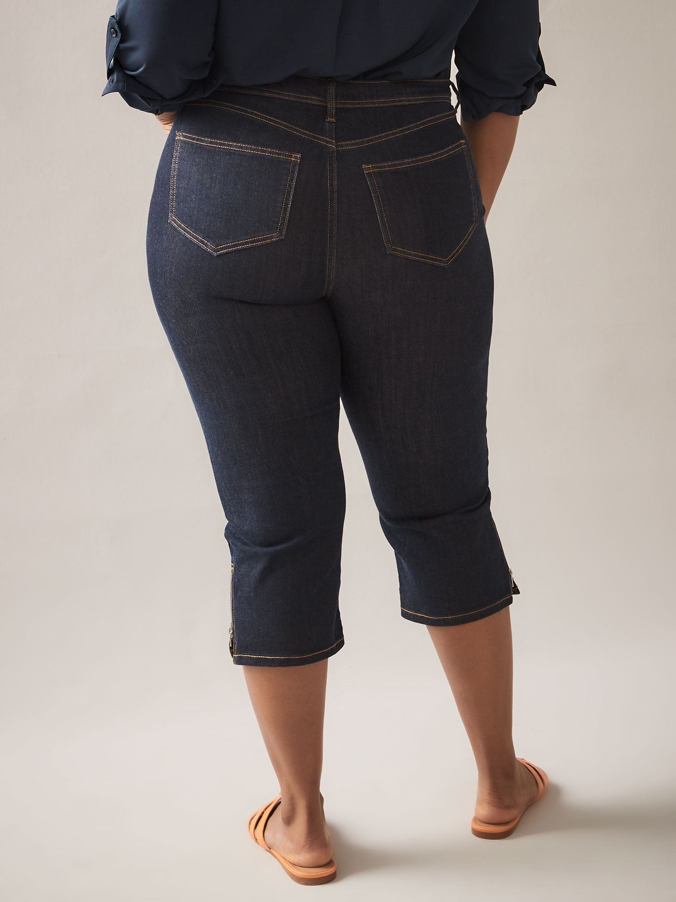 Curvy Fit, Straight-Leg Denim Capri - In Every Story