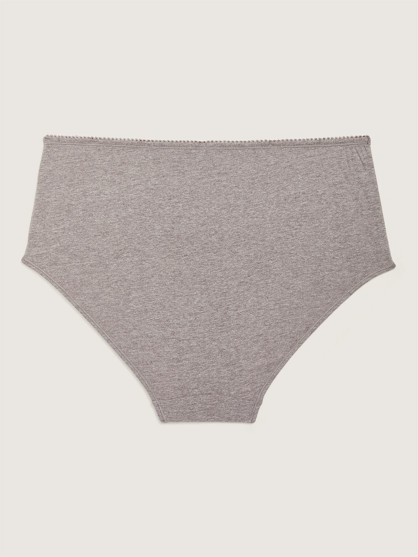 Heathered Cotton Brief Panty