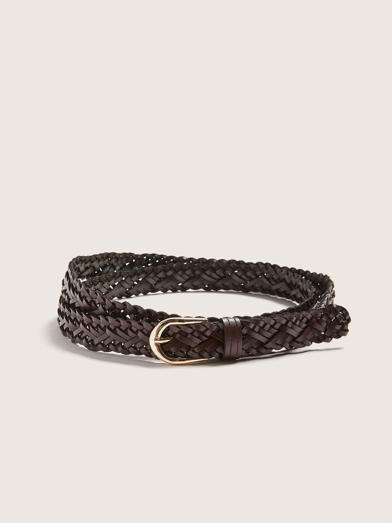 Skinny Leather Braided Belt - Addition Elle