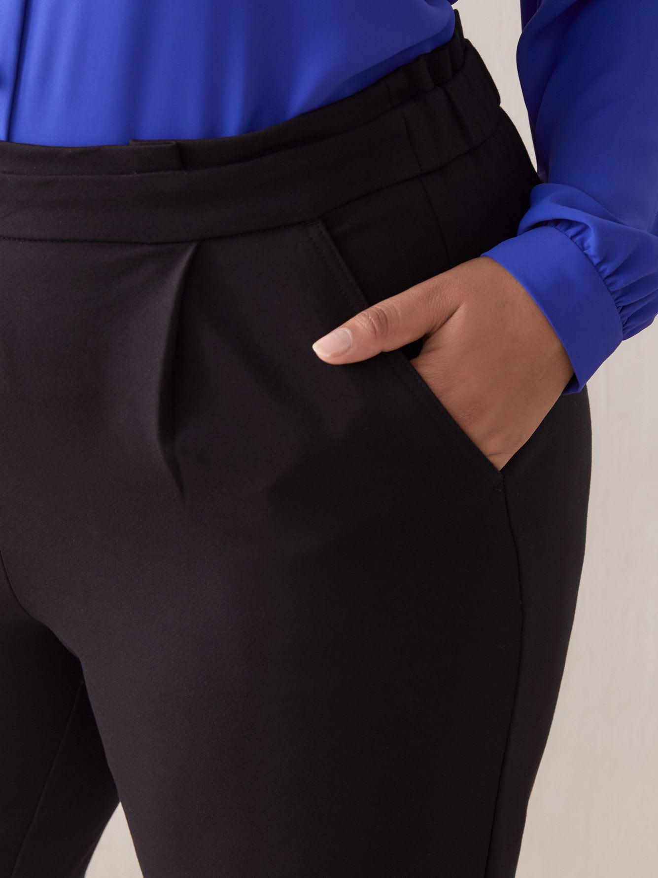 Pull-On High Waist Paper-Bag Pants - Addition Elle