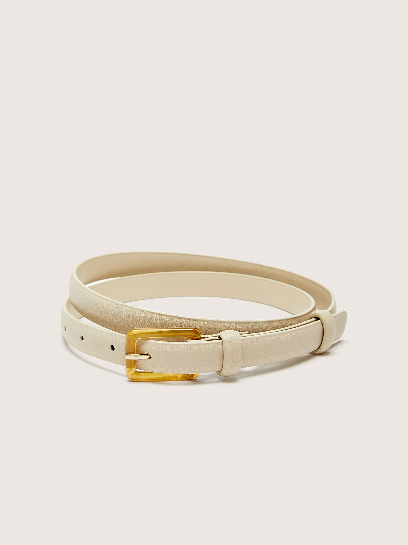 Skinny Belt with Tortoise Buckle - Addition Elle