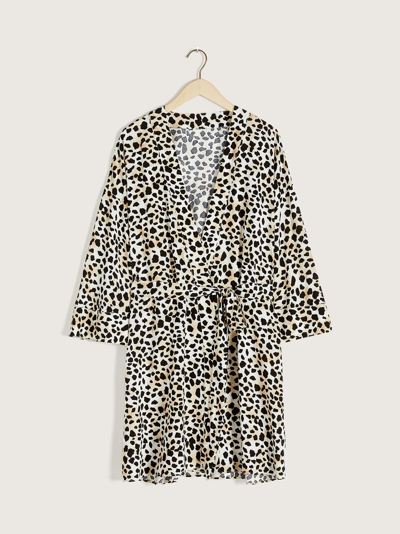 Printed Lounge Robe - Addition Elle