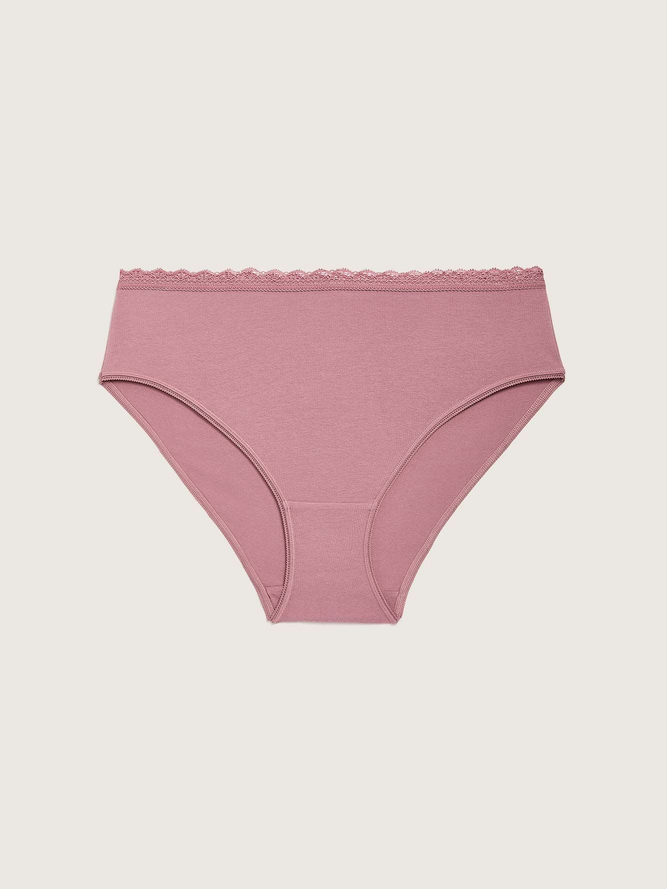 Solid Cotton High Cut Panty - Addition Elle