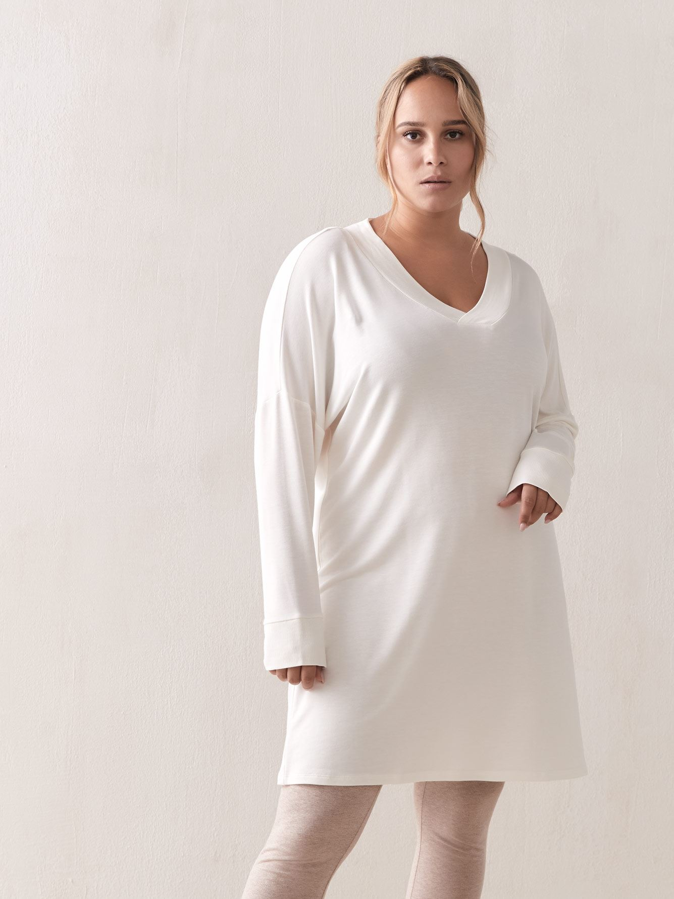 French Terry PJ Top with Long Sleeves - Addition Elle