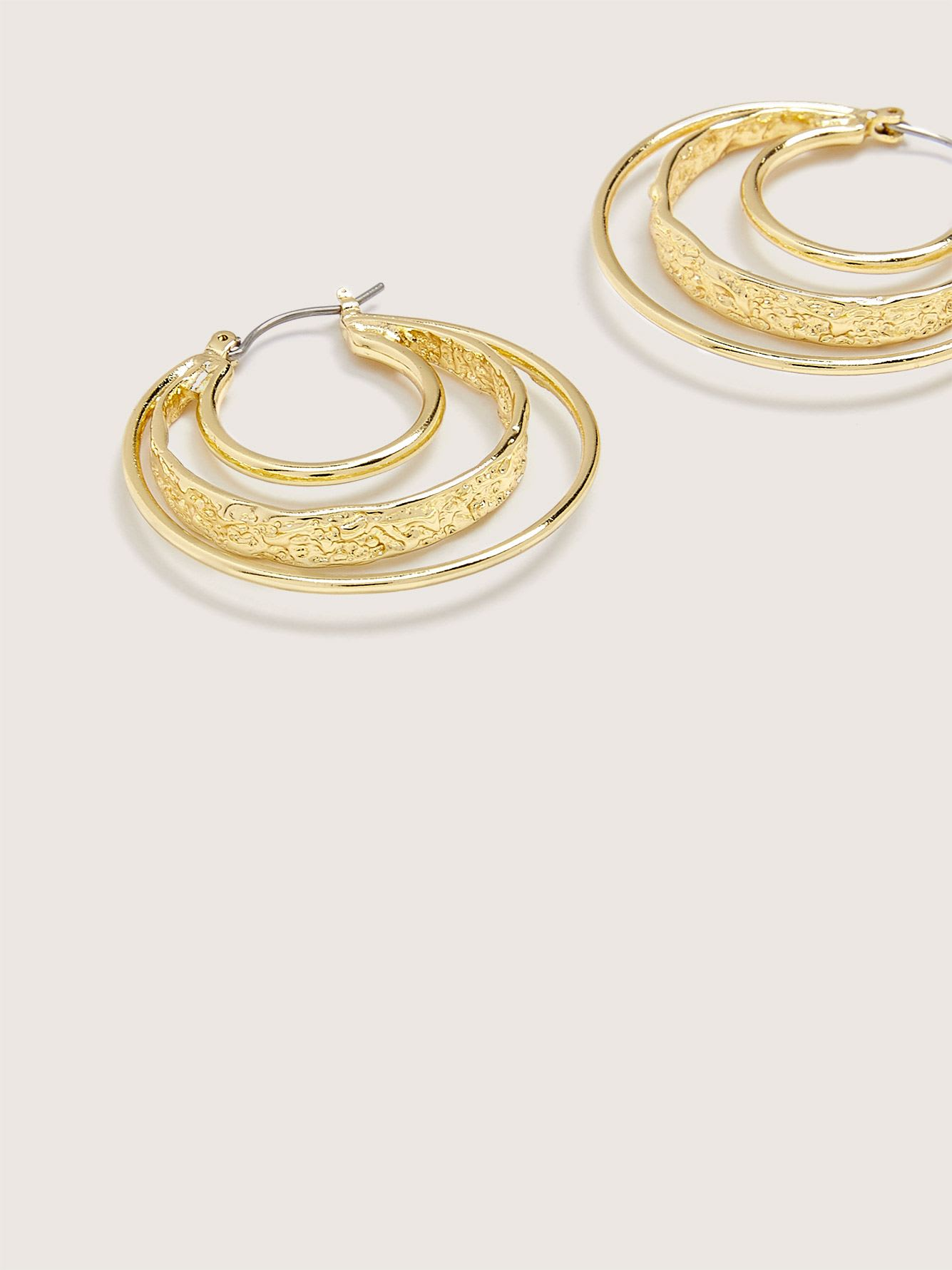 Pilgrim - Triple Hoop Earrings