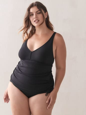 One-Piece V-Neck Swimsuit with Adjustable Cords - TYR