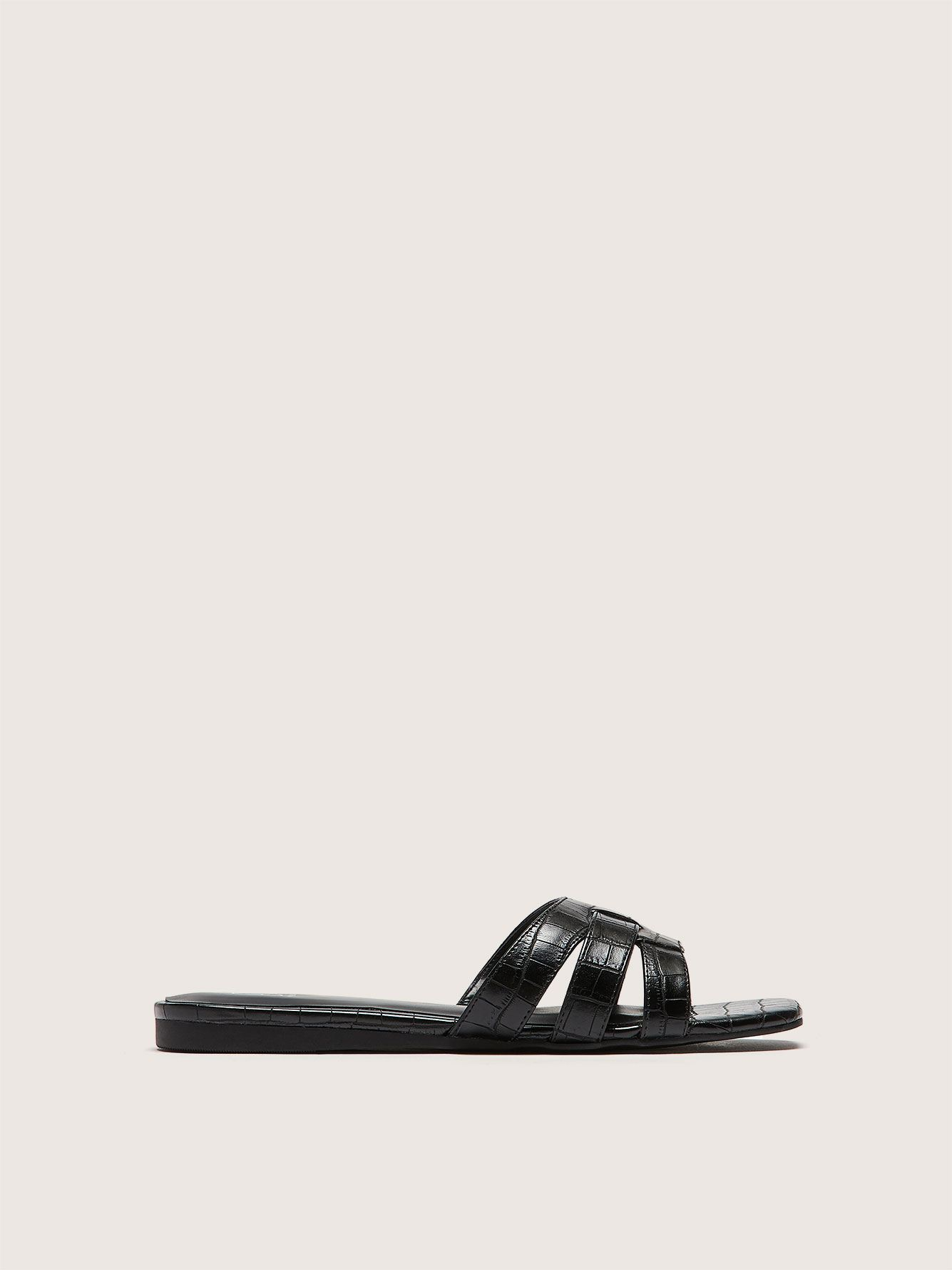 Wide Strappy Flat Sandal - Addition Elle