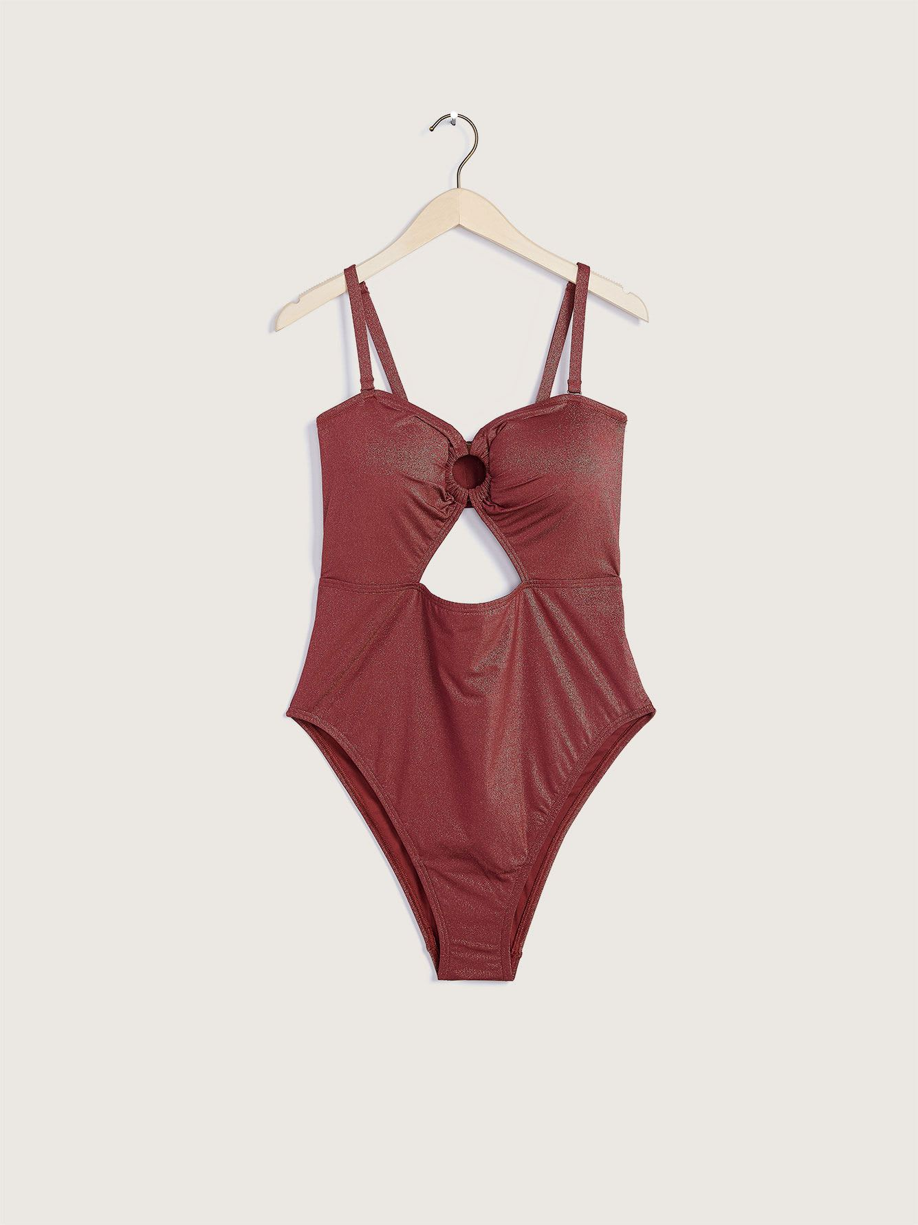 Peek-A-Boo One-Piece Swimsuit - Addition Elle