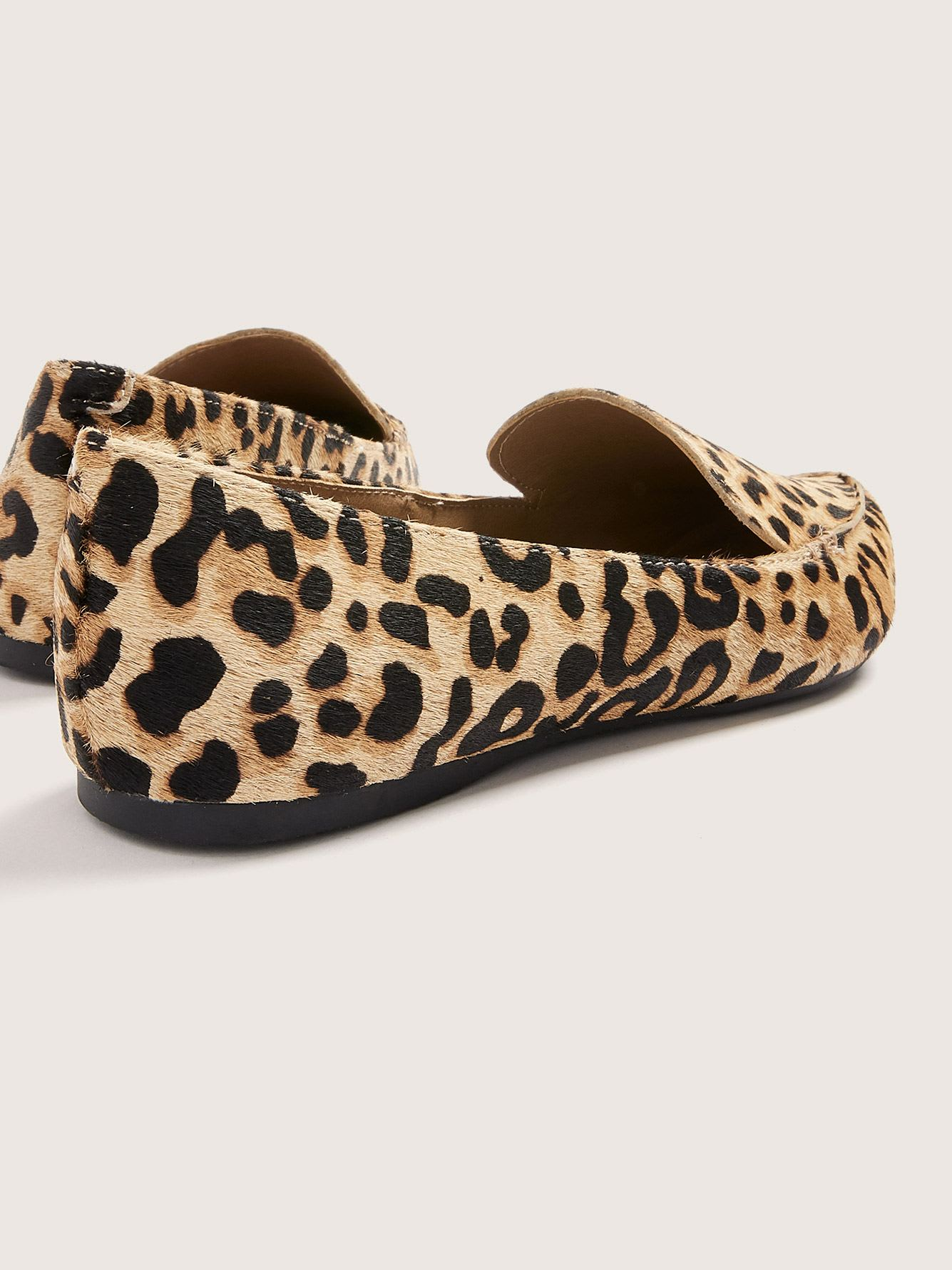 Wide Width Leopard Feather Loafers - Steve Madden