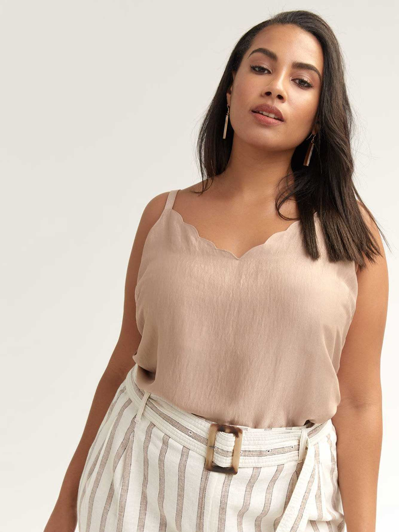 Camisole with Scalloped Neckline