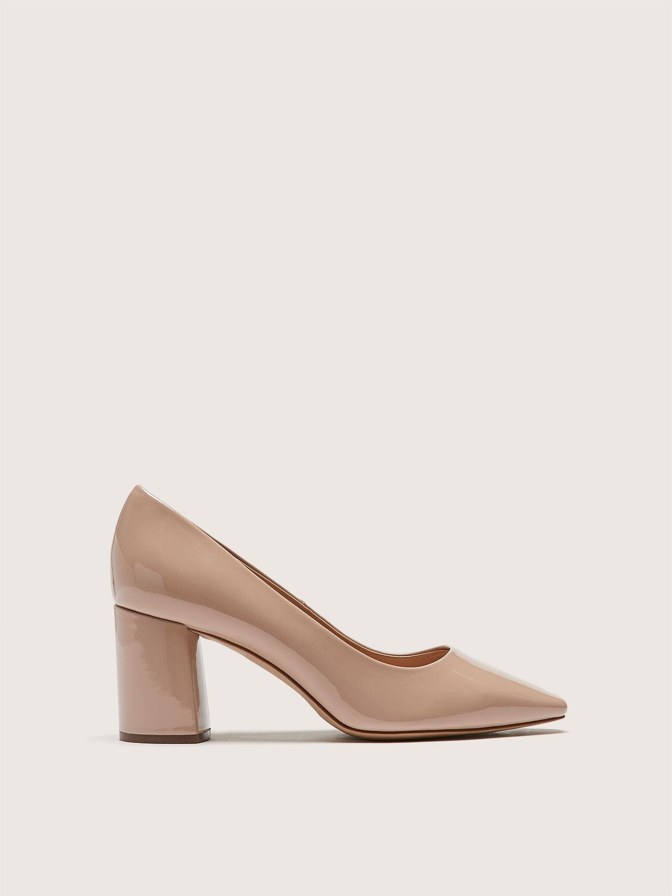 Wide Block Heel Pointed Toe Pump - Addition Elle