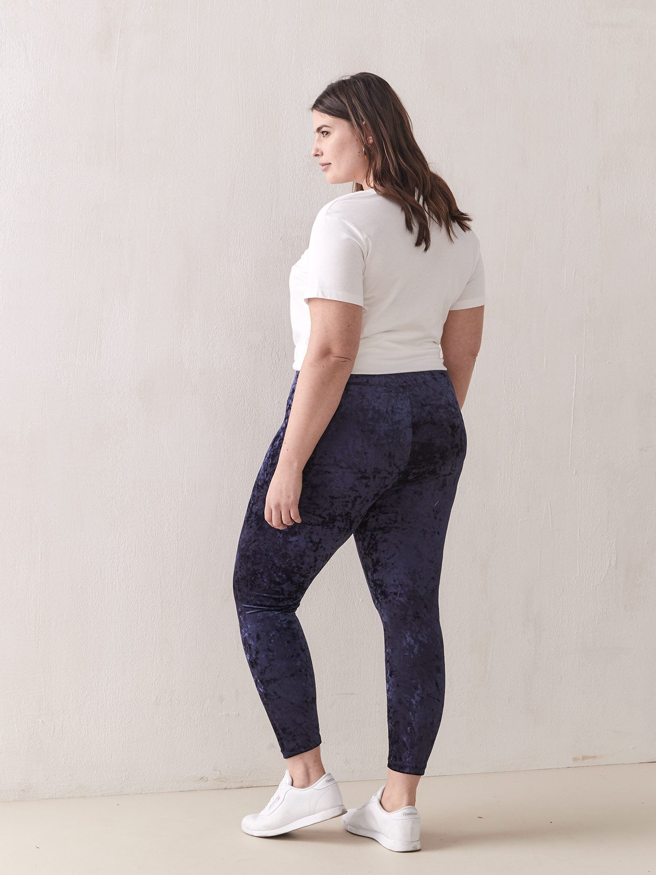 Crushed Velvet Leggings - Addition Elle