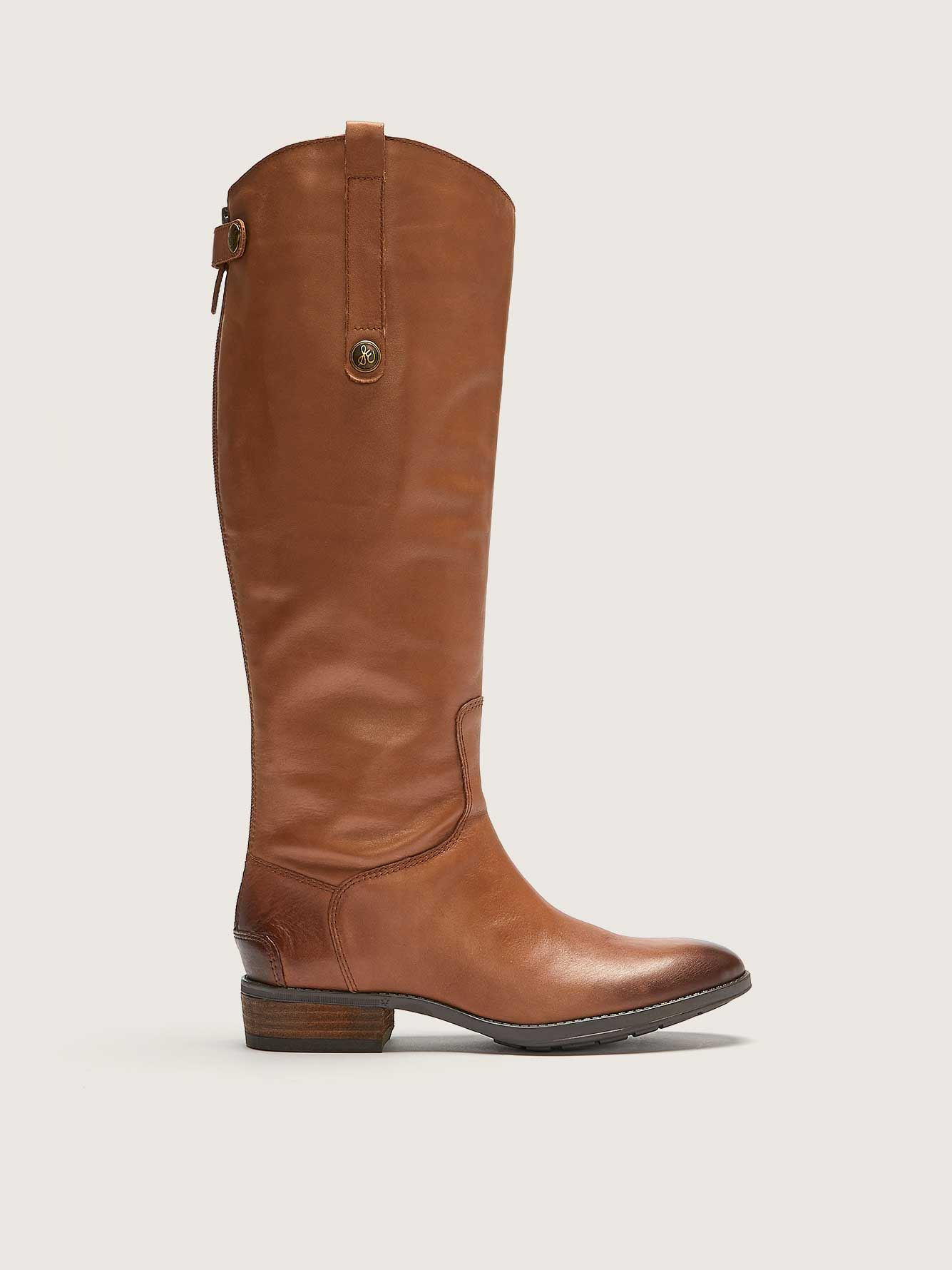 Wide Penny Leather Riding Boot - Sam Edelman