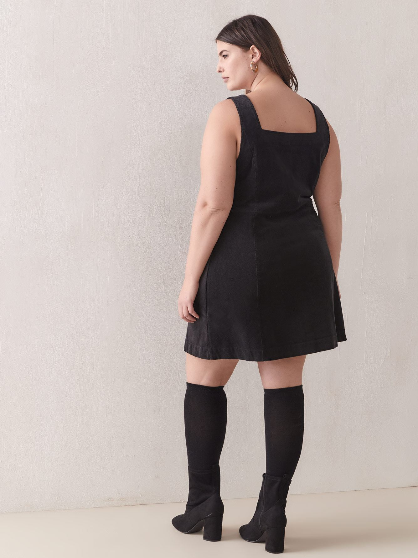 Corduroy A-Line Mini Dress - Addition Elle