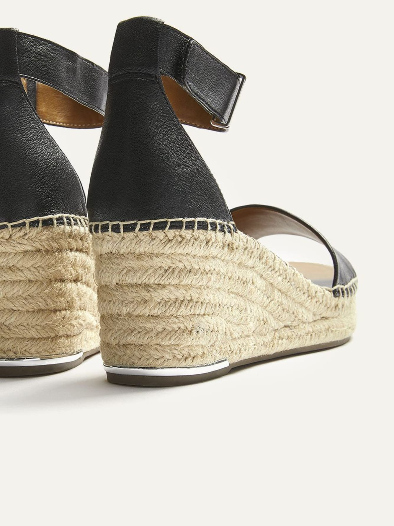 Wide Wedge Leather Espadrilles - Franco Sarto