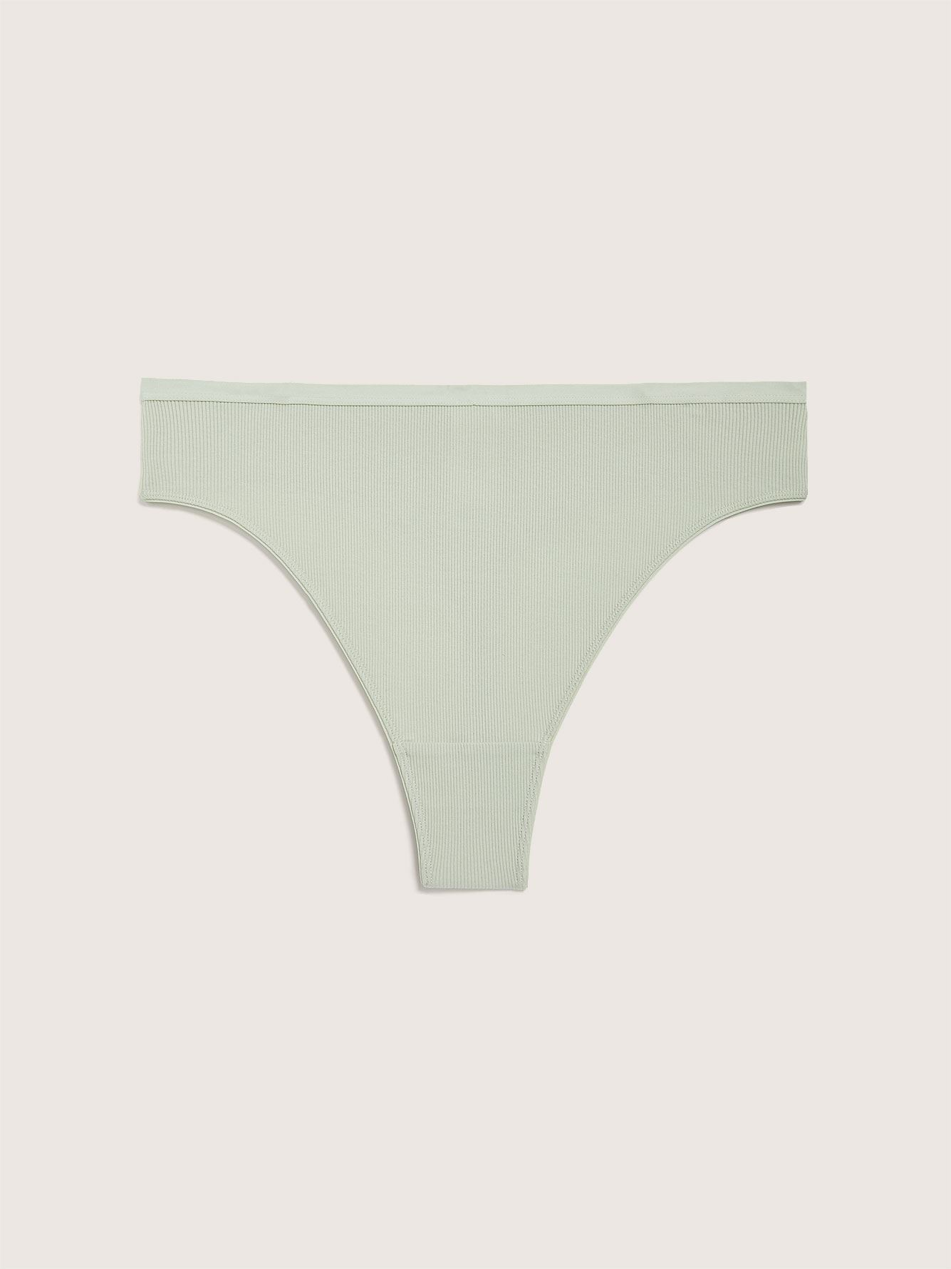 Ribbed Thong Panty - Addition Elle