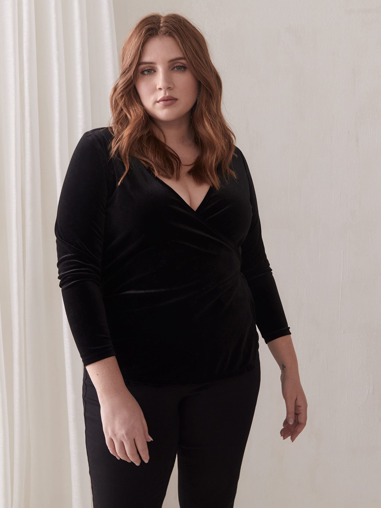 Velvet Wrap Top - Addition Elle