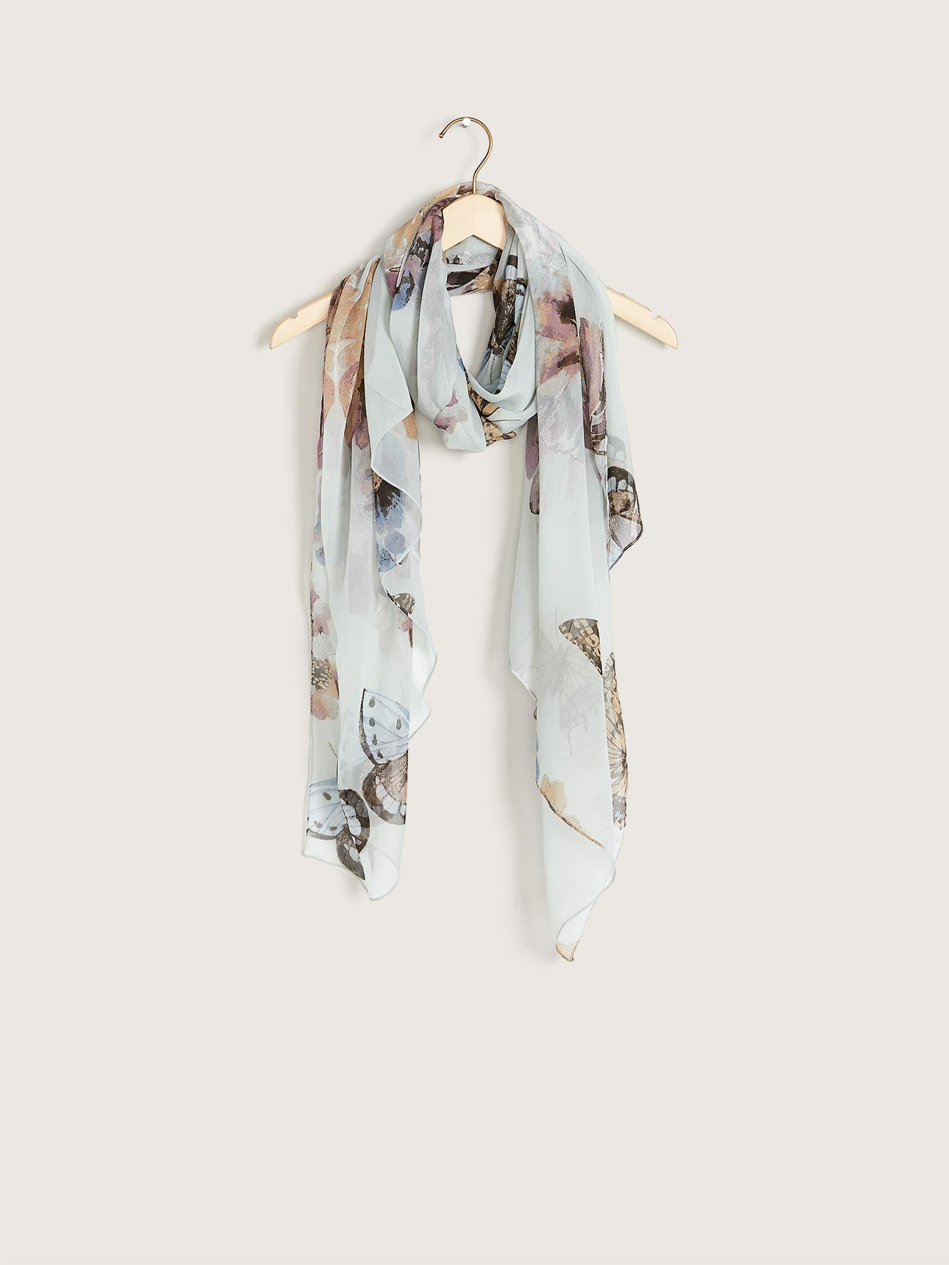 Butterfly Print Light Scarf - Addition Elle