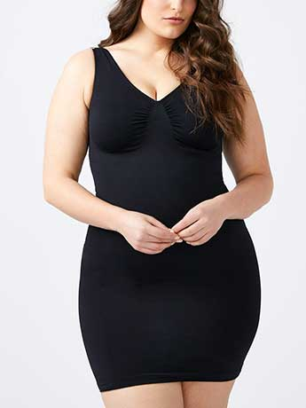 Seamless Shapewear Mid-Thigh Slip Dress - ti Voglio