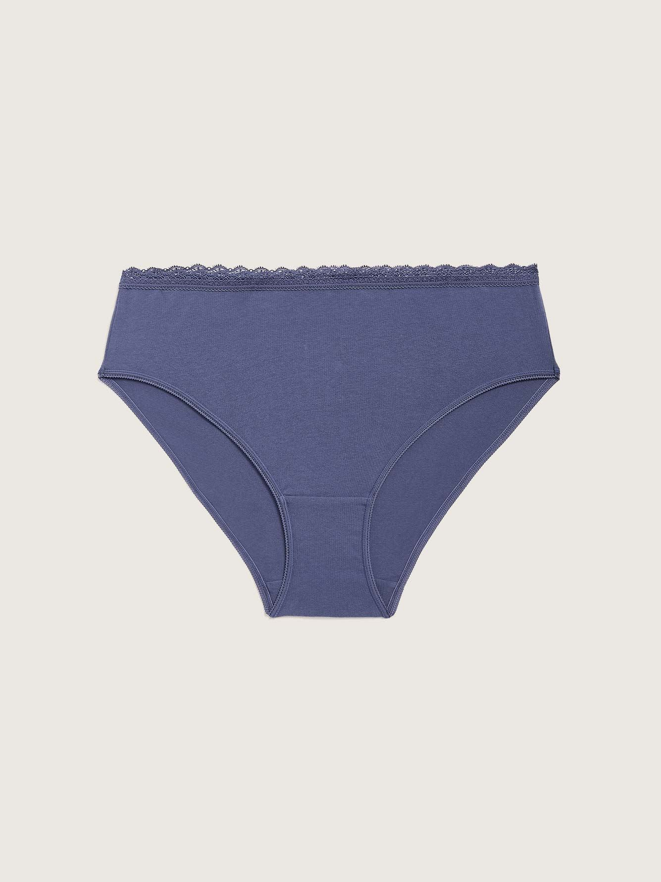 Solid High Cut Cotton Brief Panty - Addition Elle