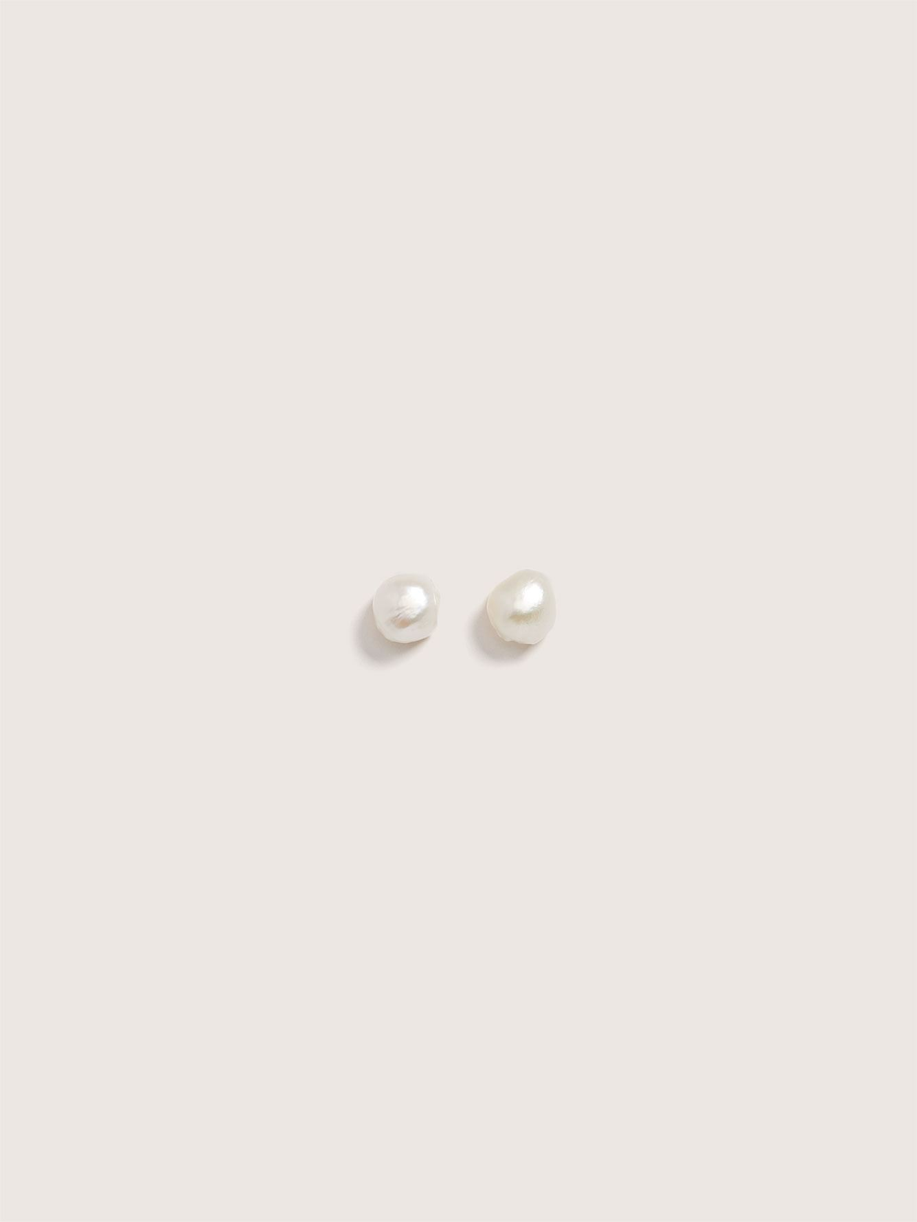 Freshwater Pearl Stud Earrings - Addition Elle