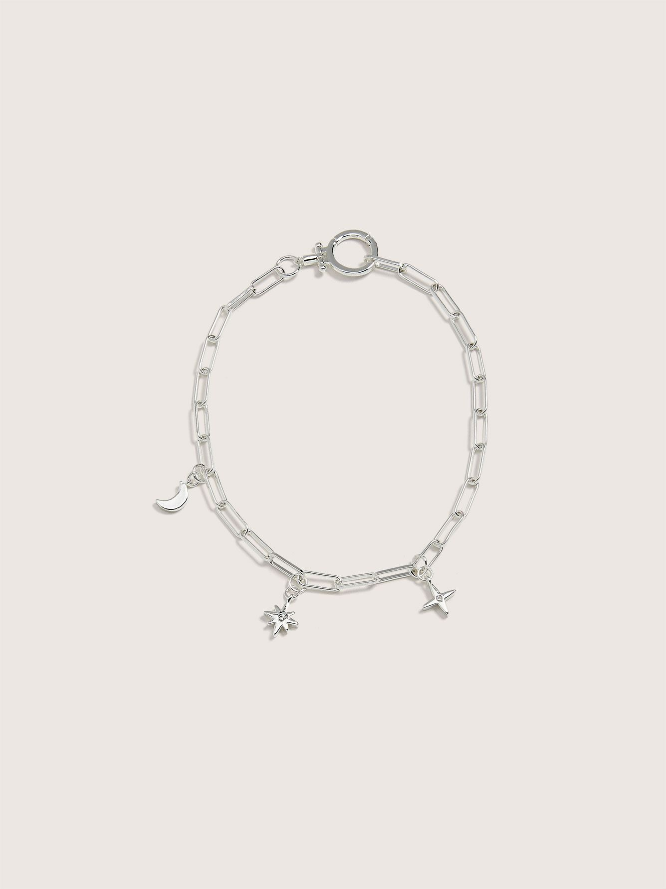 Silver Plated Constellation Chain Bracelet - Addition Elle