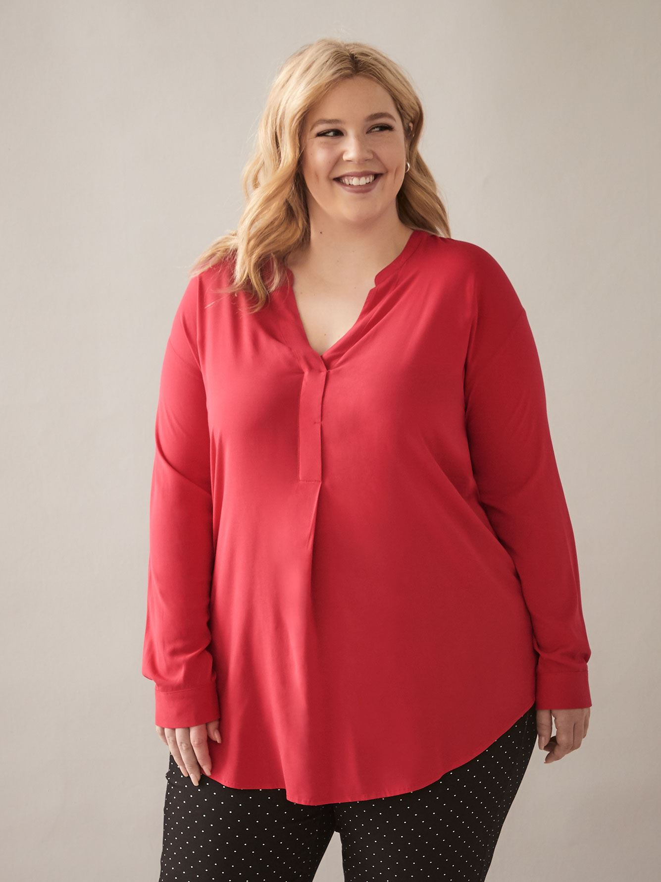Blouse tunique avec col mao - In Every Story