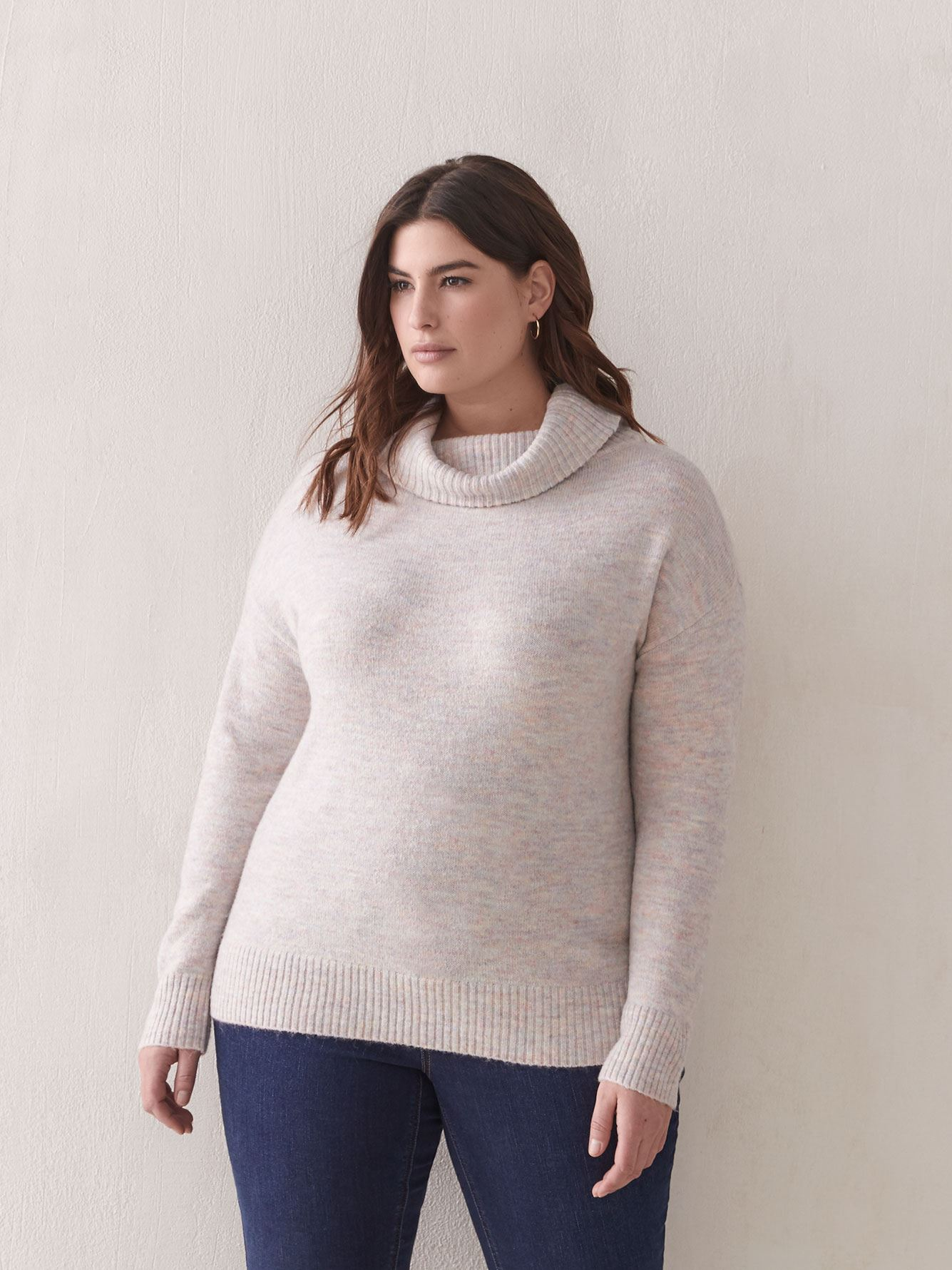 Wide Funnel-Neck Sweater - Addition Elle