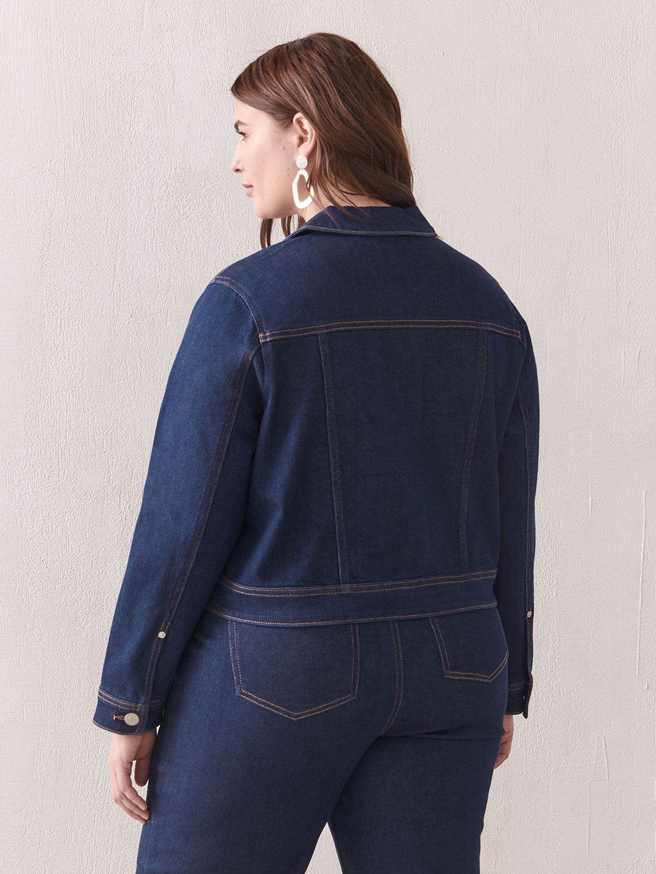 Veste en denim coupe carrée - Addition Elle
